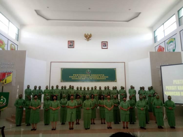 Persit KCK Koorcab Rem 133 Gelar Pertemuan Seluruh Anggota