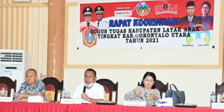 Sekda Ridwan Yasin Buka Rakor Gugus Tugas Kabupaten Layak Anak