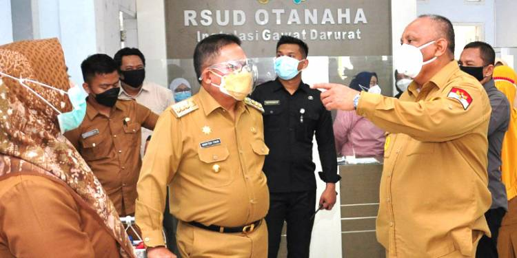 """""""Antisipasi Lonjakan Covid 19"""", Gubernur Gorontalo Tinjau Tiga RS Provinsi Gorontalo"""