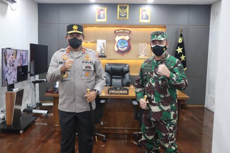 Bangun Harmonisasi TNI-POLRI Pangdam XIII/Mdk Audiensi Bersama Kapolda Sulut