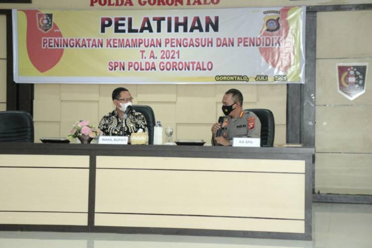 Wabup Thariq Modanggu Jadi Pemateri di SPN Polda Gorontalo