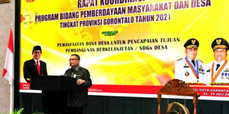 Wagub Gorontalo Membuka Rapat Koordinasi Program, Sugito : Dana Desa 2021 Diarahkan Pemulihan Ekonomi
