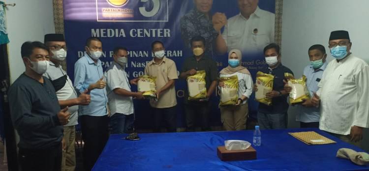 NasDem Kabgor Peduli Stunting, Salurkan Bantuan Beras Fortovit Dari Rahmat Gobel