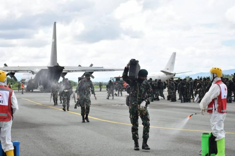110 Personel Satgas Yonif R 715/Mtl Tiba Di Gorontalo