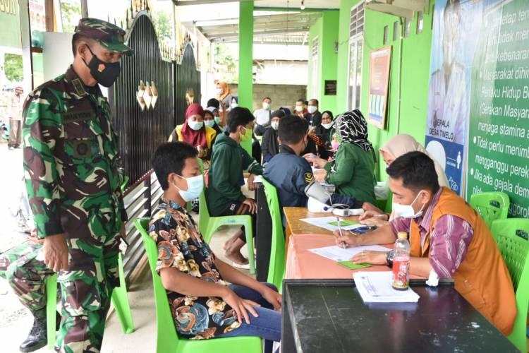 Koramil 1314-01/Telaga Bersama Pemkab Gorontalo Gelar Serbuan Vaksinasi
