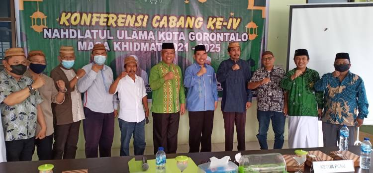 KH. Burhanuddin Umar dan Ibrahim T. Sore Kembali Nakhodai NU Kota Gorontalo