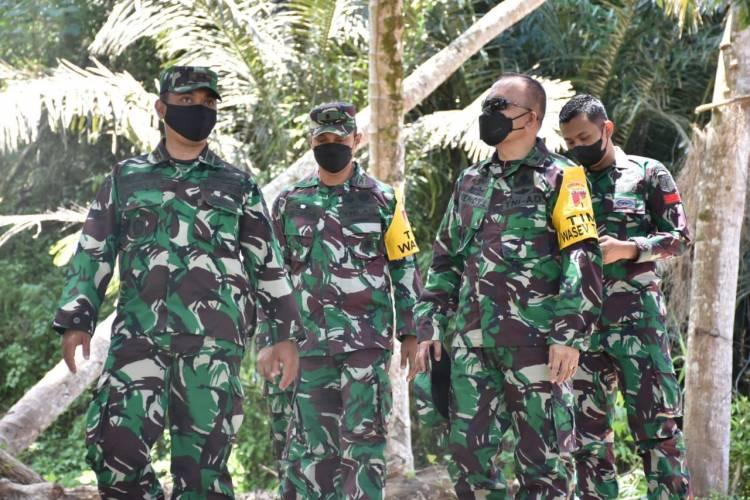 Tim Wasev Kodam XIII/Merdeka Kunker Ke Lokasi TMMD Ke-112 Kodim 1304/Gorontalo